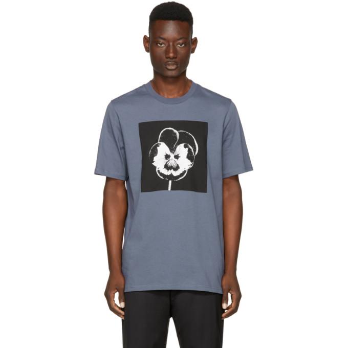 Image of OAMC Blue Night Flower T-Shirt