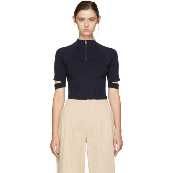 NOMIA Nomia Navy Zip-Up Pullover