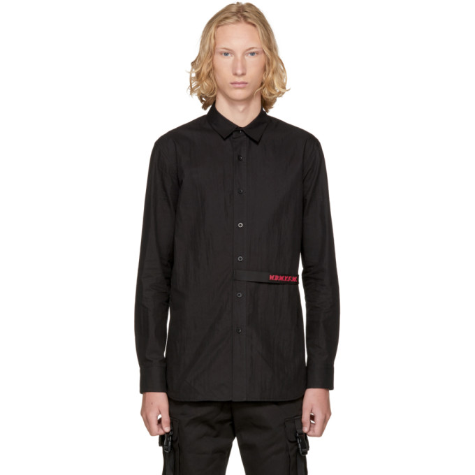 Image of D by D Black 'WDWYFW' Strap Shirt