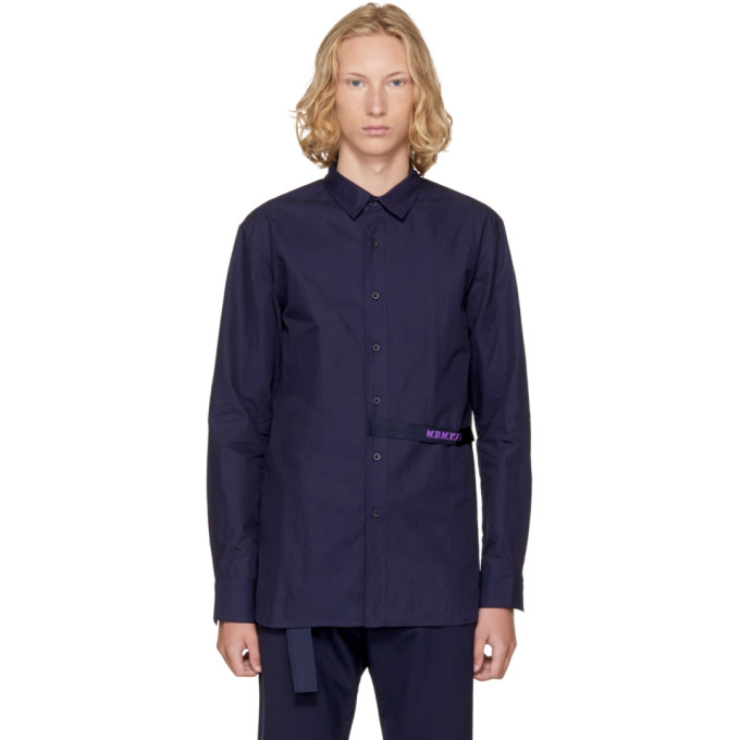 Image of D by D Navy 'WDWYFW' Strap Shirt