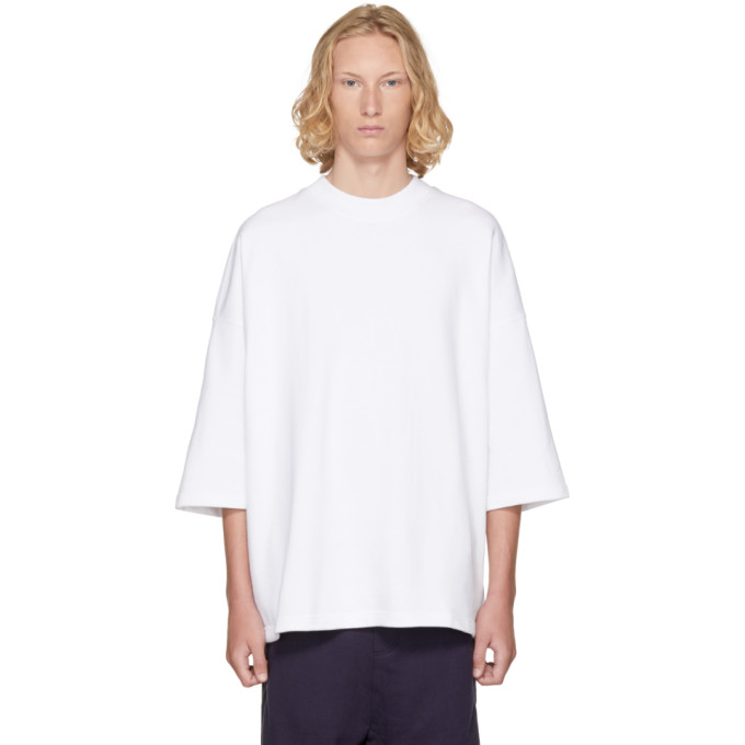 Image of D by D SSENSE Exclusive White Oversized T-Shirt