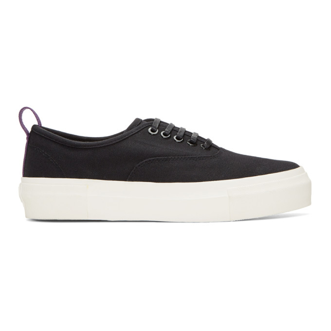 Image of Eytys Black Canvas Mother Sneakers
