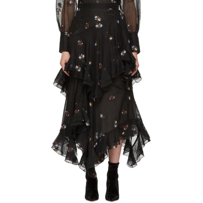 Image of Erdem Black Elsa Skirt