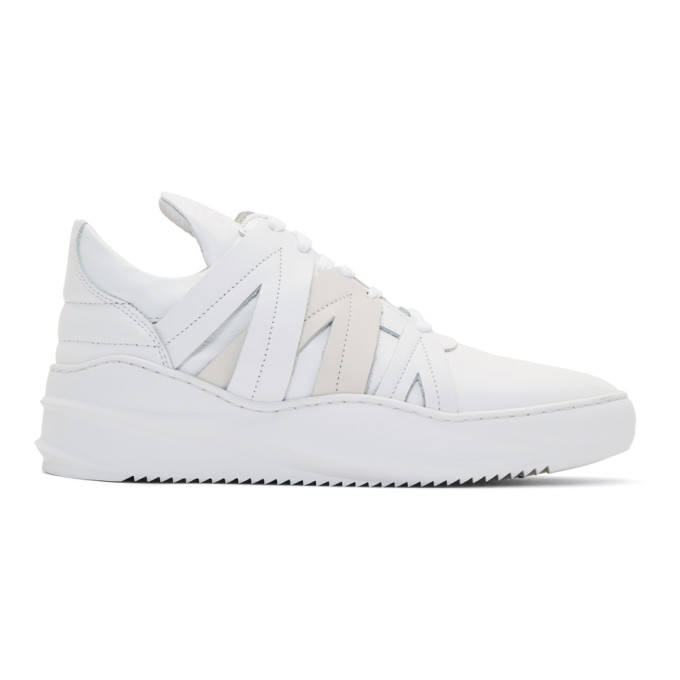 Image of Filling Pieces White Low Bronco Sneakers