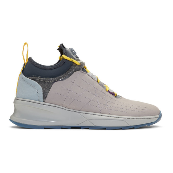 Image of Filling Pieces Grey Inner Circle 'Deconstructed' Shark Sneakers