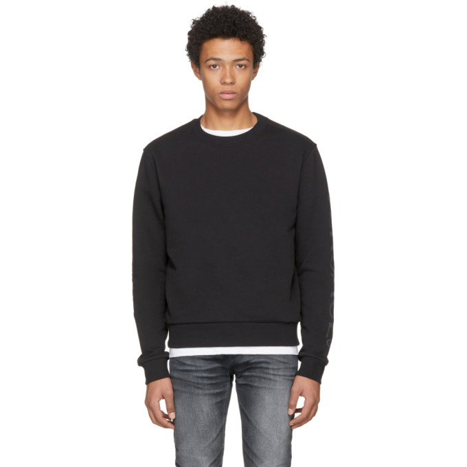 Image of Versace Underwear Black Gym Sweatshirt