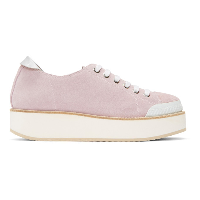 Image of Flamingos SSENSE Exclusive Pink Exclusive Tatum Suede Sneakers