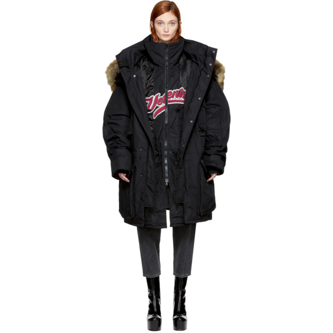 Vetements Black Bro Double Parka