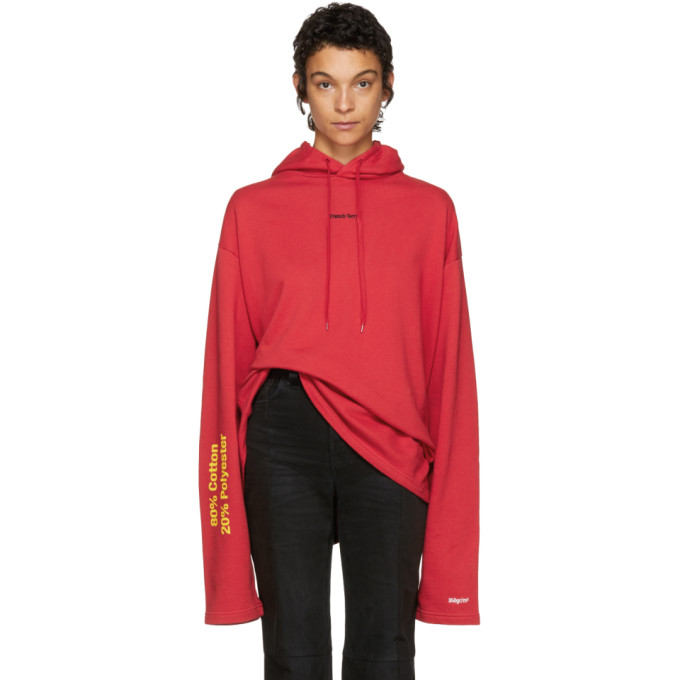 Vetements Red French Terry Hoodie