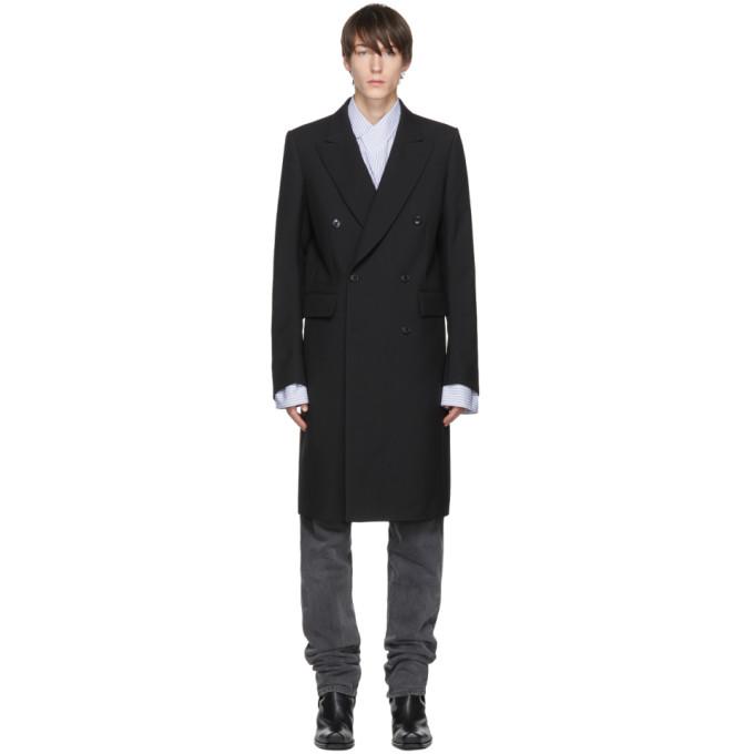 Vetements Black Wool Double-Breasted Coat