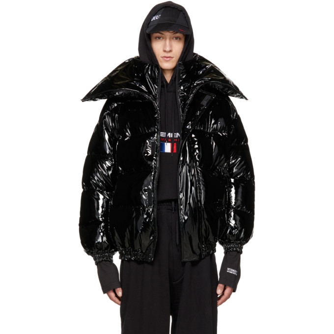 Vetements Black Miss Webcam Puffer Jacket
