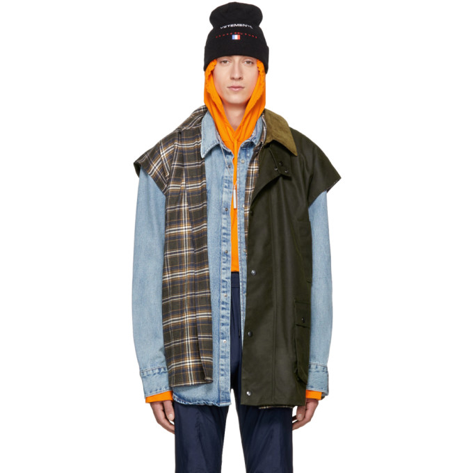 Vetements Green Nerd Waxed Vest