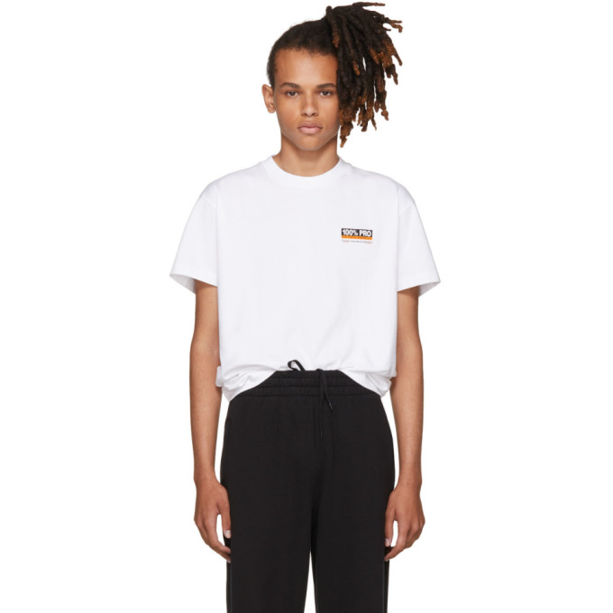 Vetements White 100% Pro Standard T-Shirt