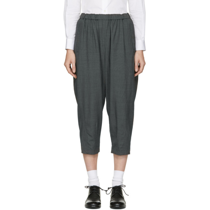 Comme des Garcons Grey Cropped Trousers
