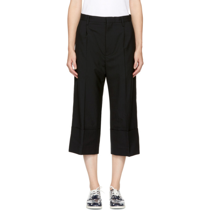 Image of Noir Kei Ninomiya Black Cuffed Trousers