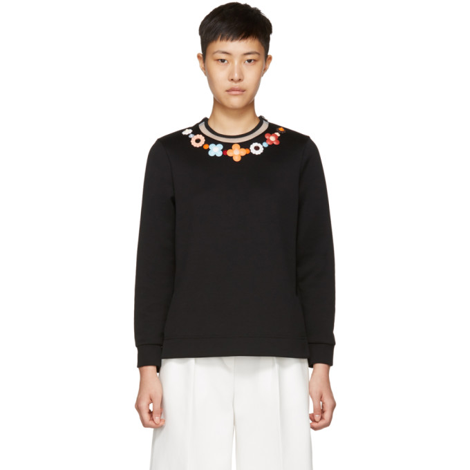 Fendi Black Flowerland Sweatshirt