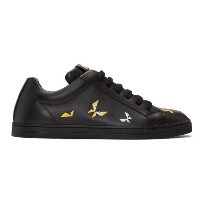 Fendi Black Butterfleyes Sneakers