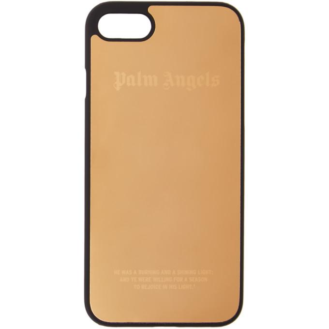 Palm Angels ゴールド メタリック ロゴ iPhone 7 ケース