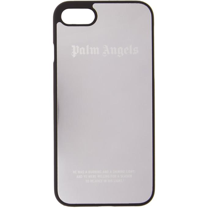 Palm Angels シルバー メタリック ロゴ iPhone 7 ケース