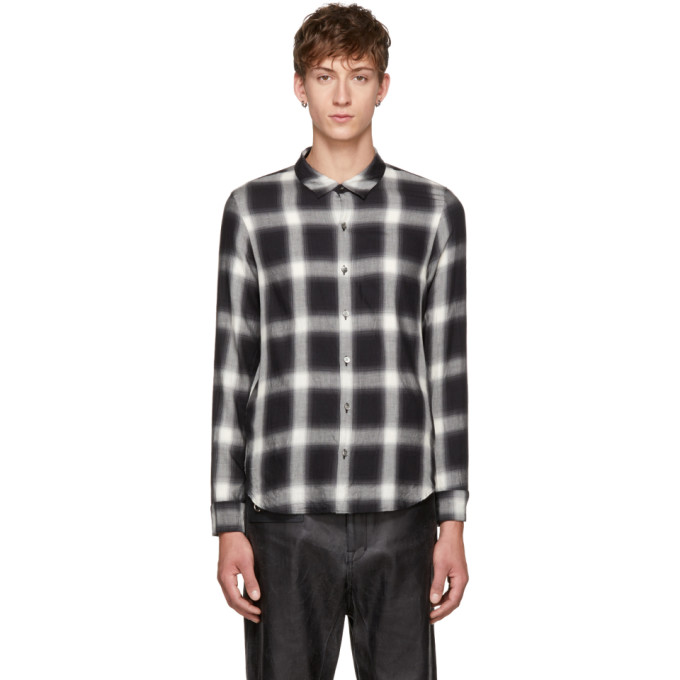 Image of Attachment Black & White Plaid Shirt