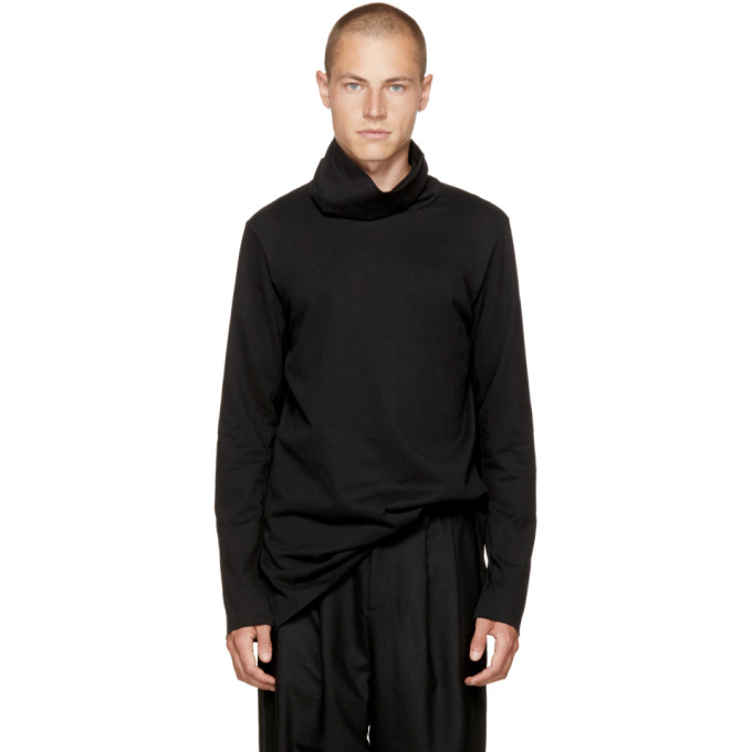 Image of Attachment Black Wide Collar Turtleneck