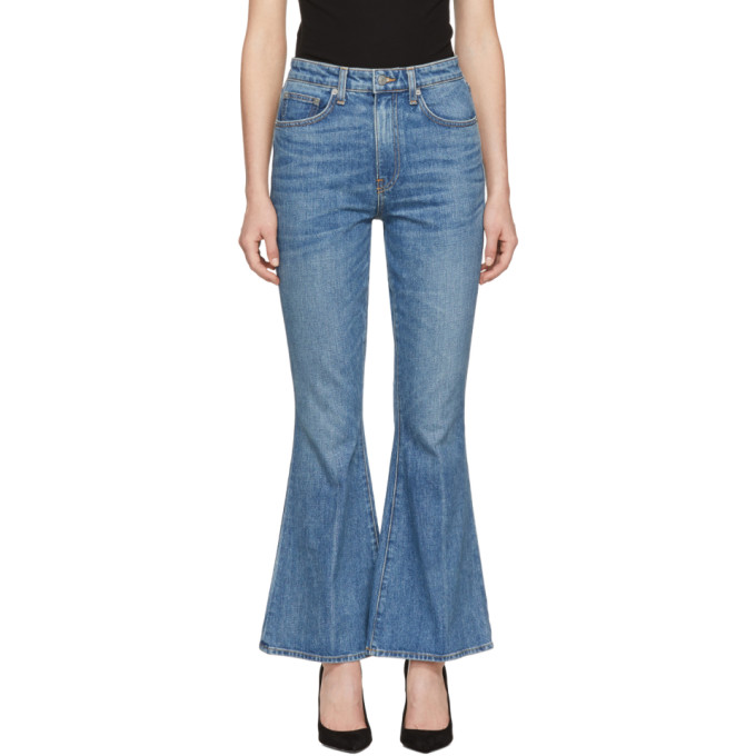 Brock Collection Blue Belle Cropped Flare Jeans