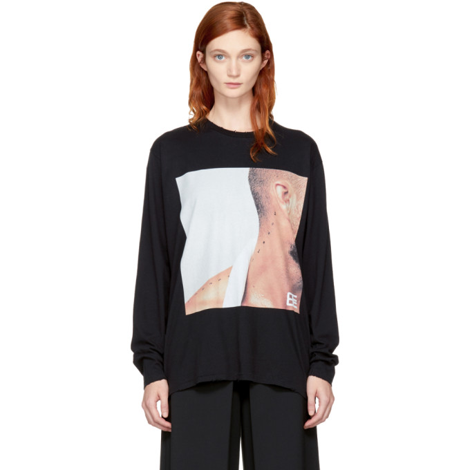 Baja East Black Long Sleeve Marlboro T-Shirt