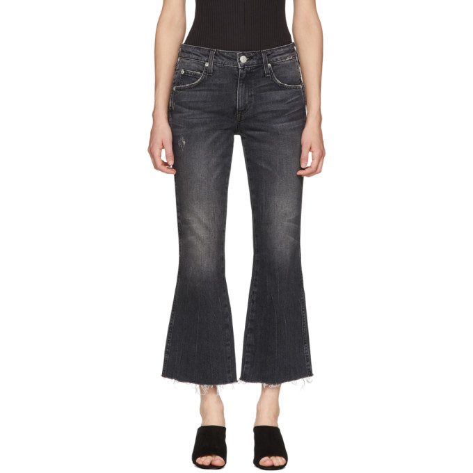 Image of Amo Black Kick Crop Jeans