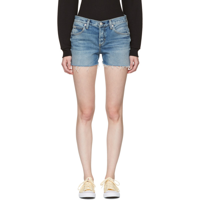Image of Amo Blue Denim Tomboy Shorts