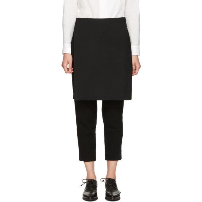Y's Black Wool Skirt Trousers