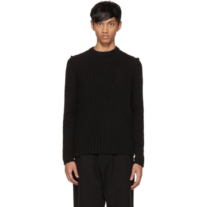Image of Isabel Benenato Black Alpaca Sweater