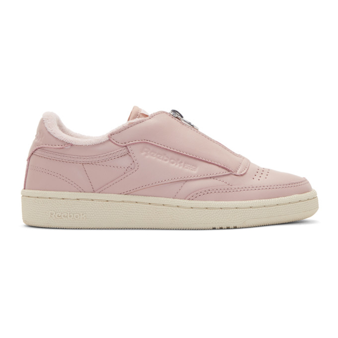 4b3095045f0283 Reebok Pink Club C 85 Zip Sneakers