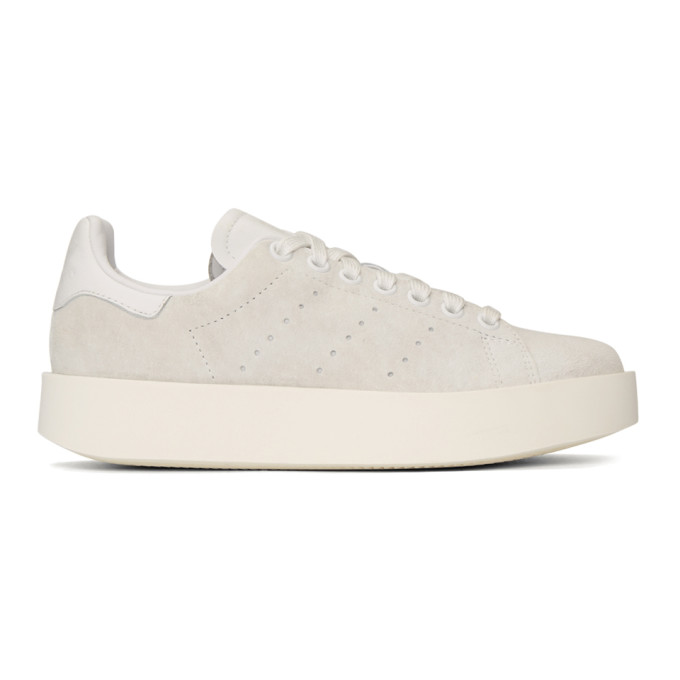 ADIDAS ORIGINALS. Adidas Originals White Stan Smith Bold Sneakers in Crystal  ... d3d22729e327