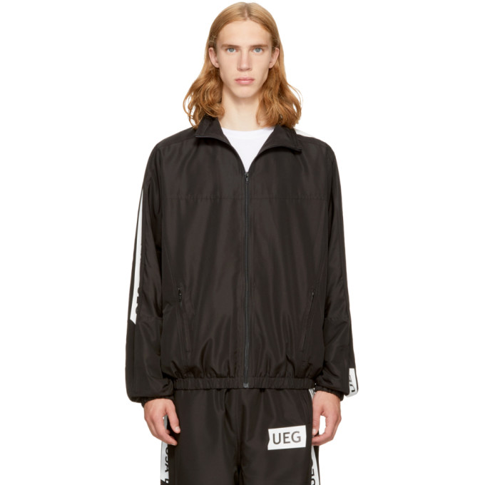 UEG Ueg Black Logo Tape Track Jacket