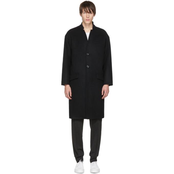 Image of John Elliott Black Cashmere Top Coat
