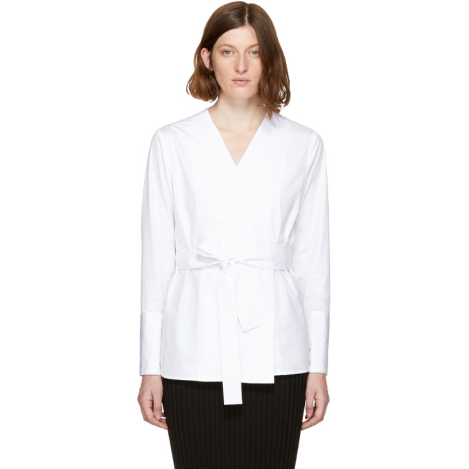 Image of Protagonist White 59 Wrap Blouse