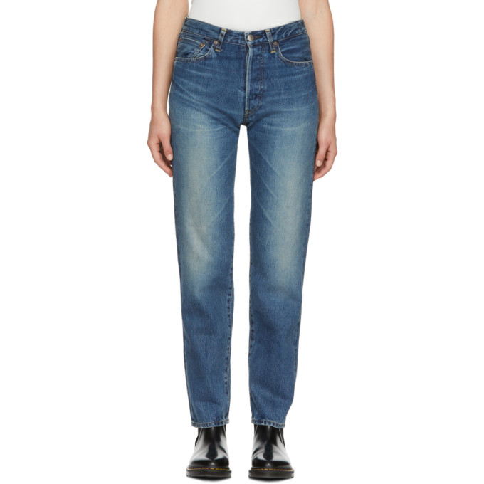 Hyke Blue Classic Straight Jeans