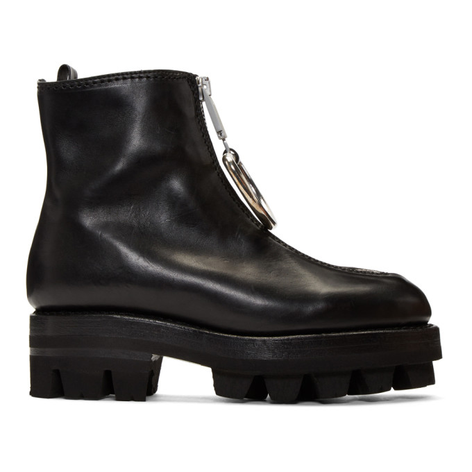 1017 ALYX 9SM Black D Ring Tank Boots 172776F11300502