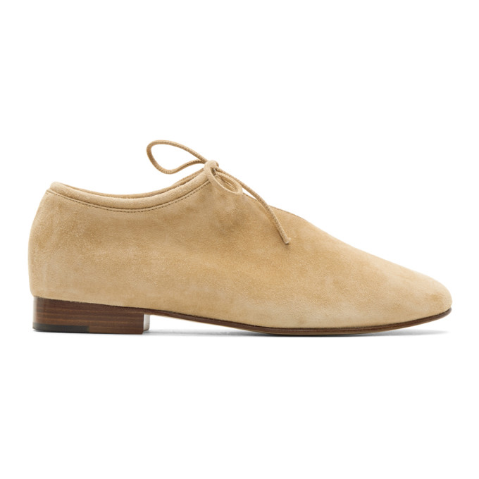 Image of Martiniano Tan Suede Bootie Flats