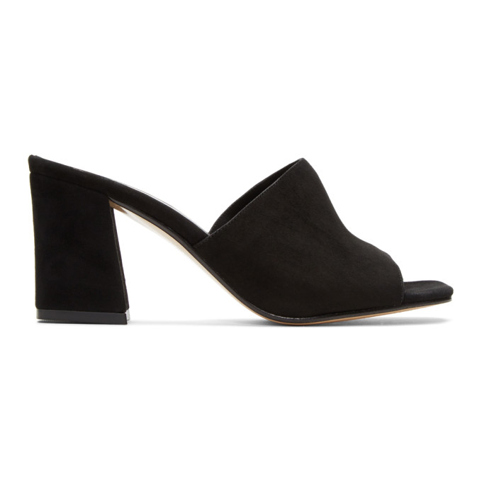 Image of Maryam Nassir Zadeh Black Suede Mar Mules