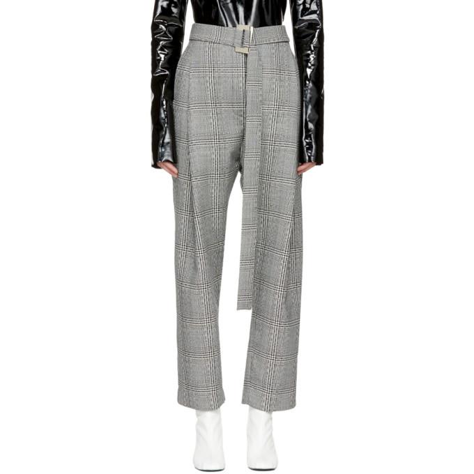 Image of Ellery Black & White Kool Air Trousers