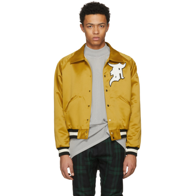 Fear of God Yellow Satin Coaches Jacket