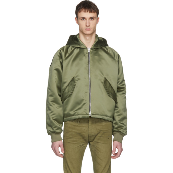 Fear of God Green Hooded Bomber Jacket