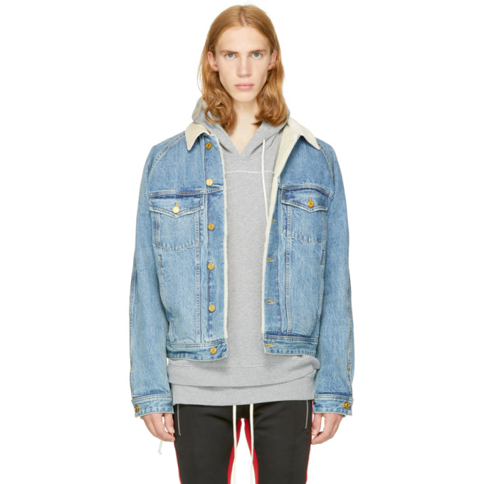 Fear of God Indigo Selvedge Denim Lined Trucker Jacket