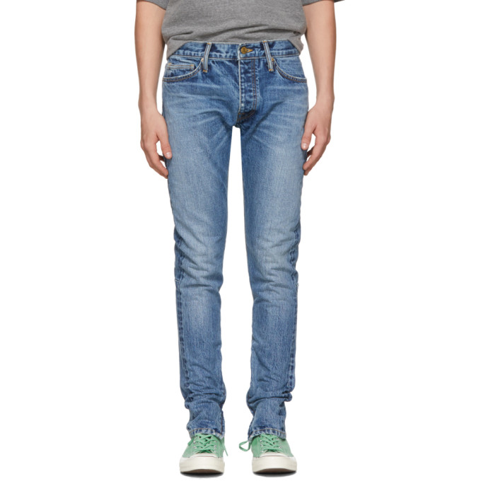 Fear of God Blue Selvedge Zip Jeans