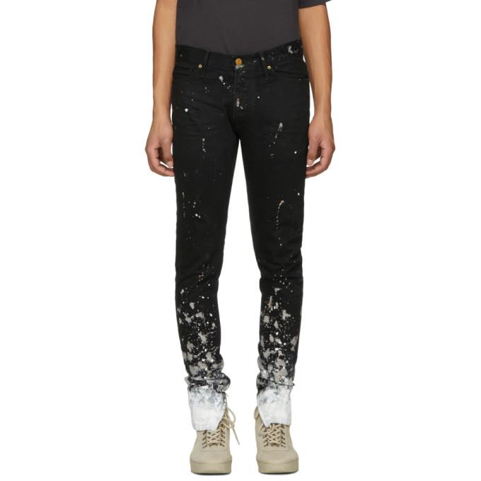 Fear of God Black Selvedge Denim Painters Jeans