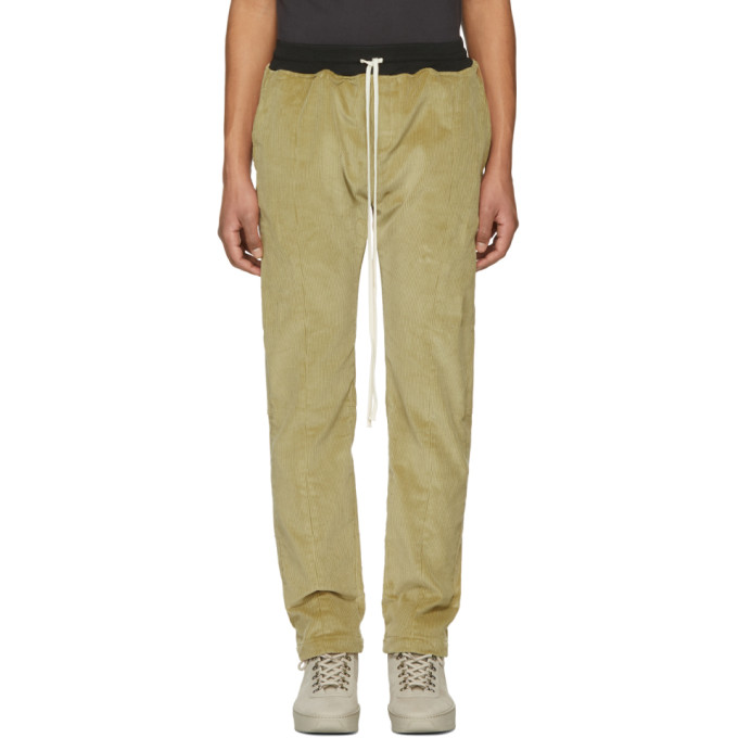 Fear of God Tan Corduroy Baggy Trousers