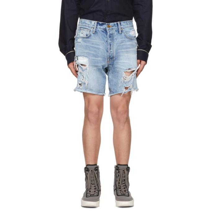 Fear of God Blue Selvedge Denim Shorts