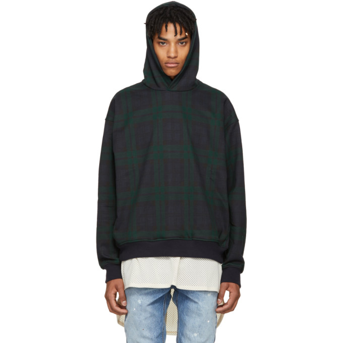 Fear of God Green Plaid Everyday Hoodie