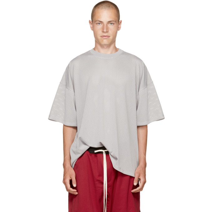 Fear of God Grey Mesh Oversized T-Shirt